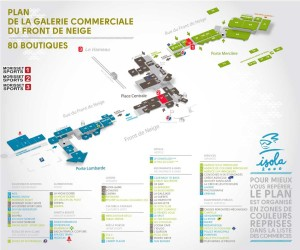 Location de ski galerie Commerciale Isola 2000